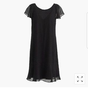 J Crew Tall Ruffled Dress in Textured Clipdot
